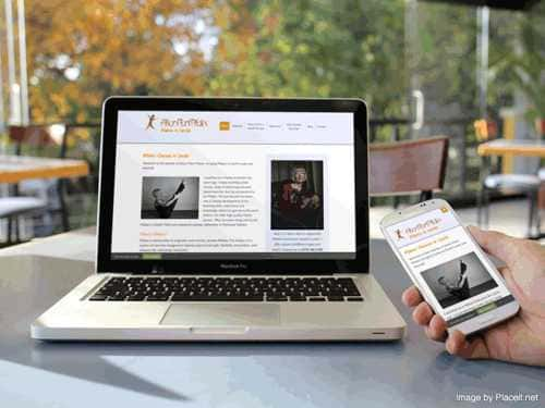 Pilates Leeds website on a mobile smartphone and a laptop